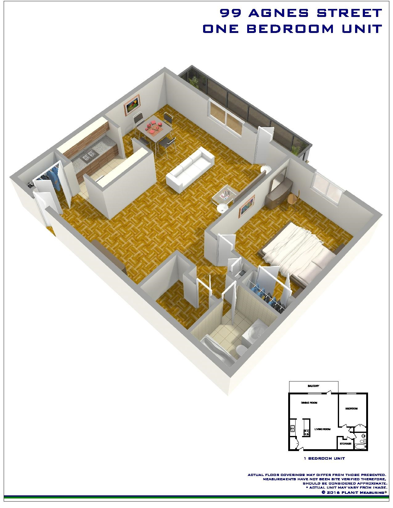 1 bedroom Apartments for rent in Mississauga at Embassy Apartments - Floorplan 01 - RentersPages – L138718