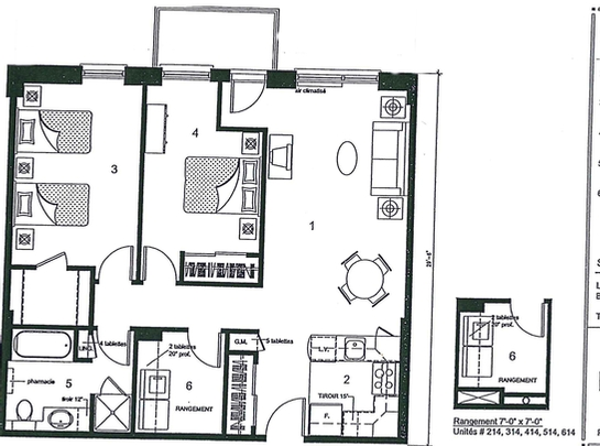 Laval 1 bedroom assisted living retirement home at les for 2 bedroom retirement house plans