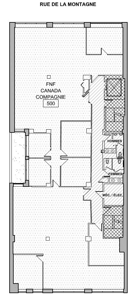 General office for rent in Montreal (Downtown) at 2160 De La Montagne - Floorplan 01 - RentersPages – L12761