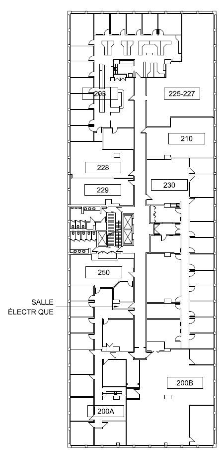 General office for rent in Ville St-Laurent - Bois-Franc at 750 Marcel Laurin - Floorplan 01 - RentersPages – L12789