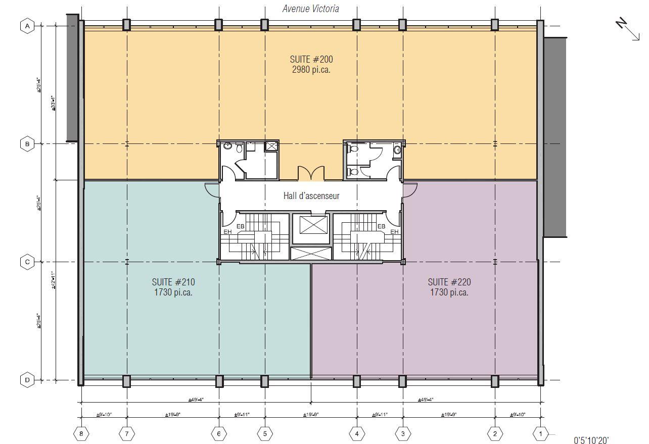 General office for rent in Westmount at 345 Victoria - Floorplan 01 - RentersPages – L12809