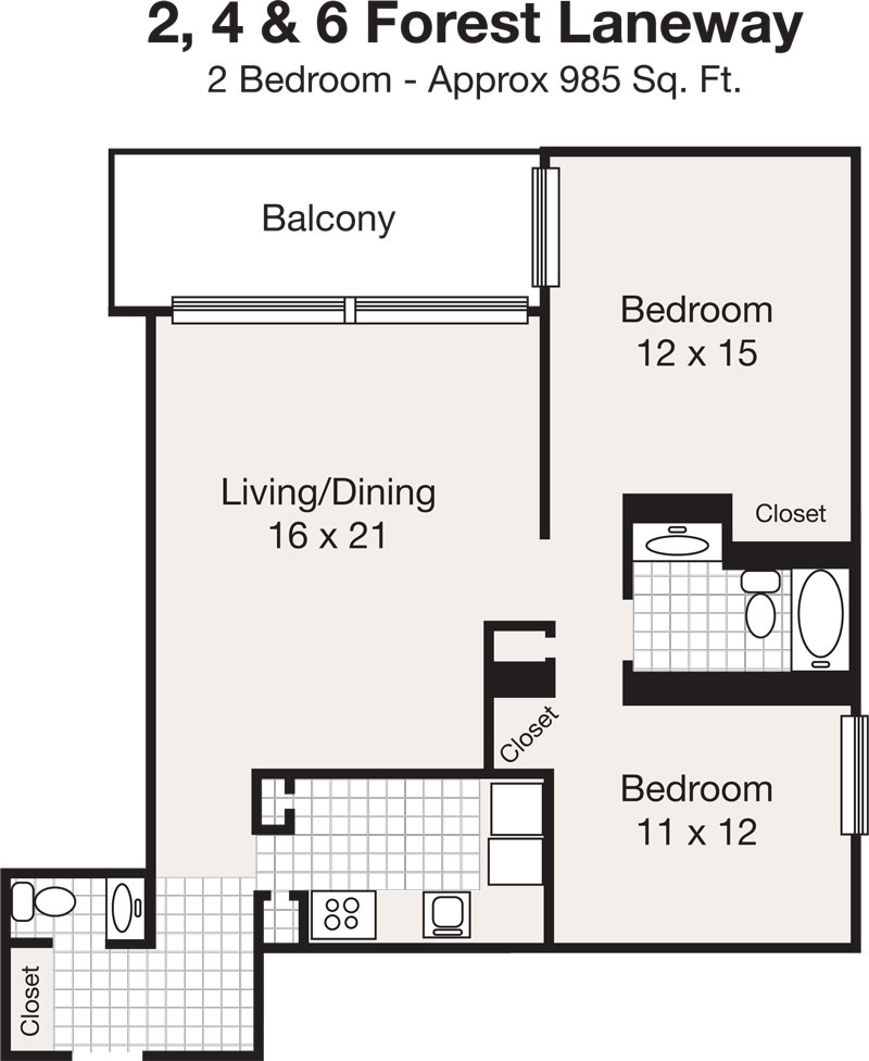 1 Bedroom Apartment In New York: Sheppard Centre - North-York