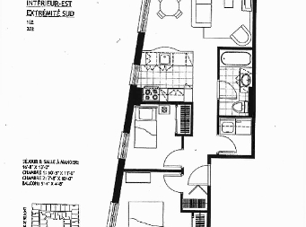 2 bedroom Independent living retirement homes for rent in Sainte Foy at Jazz Ste-Foy - Floorplan 01 - RentersPages – L19566