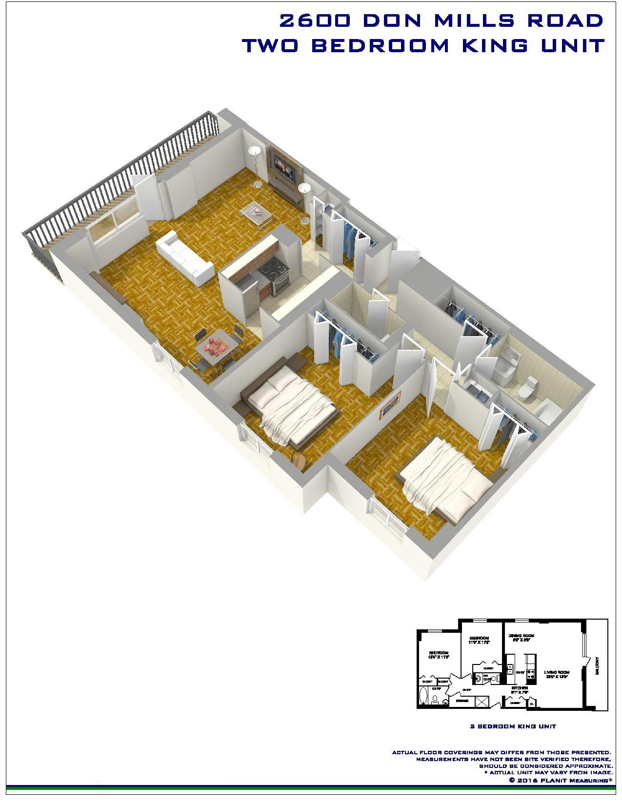 2 bedroom Apartments for rent in North-York at Hunters Lodge - Floorplan 01 - RentersPages – L401146