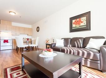 furnished 1 bedroom Independent living retirement homes for rent in Marieville at Les Jardins du Couvent - Photo 09 - RentersPages – L19500